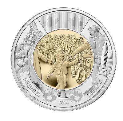 CANADA $2 2014 Wait For Me Daddy Circulation Toonie 5-Pack
