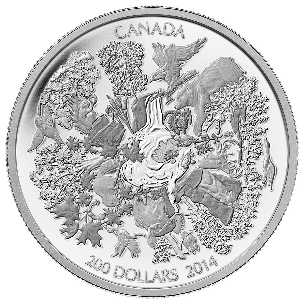 CANADA 2014 $200 Fine Silver Commemorative Coin - Towering Forests - $200 for $200 - #5 In Series
