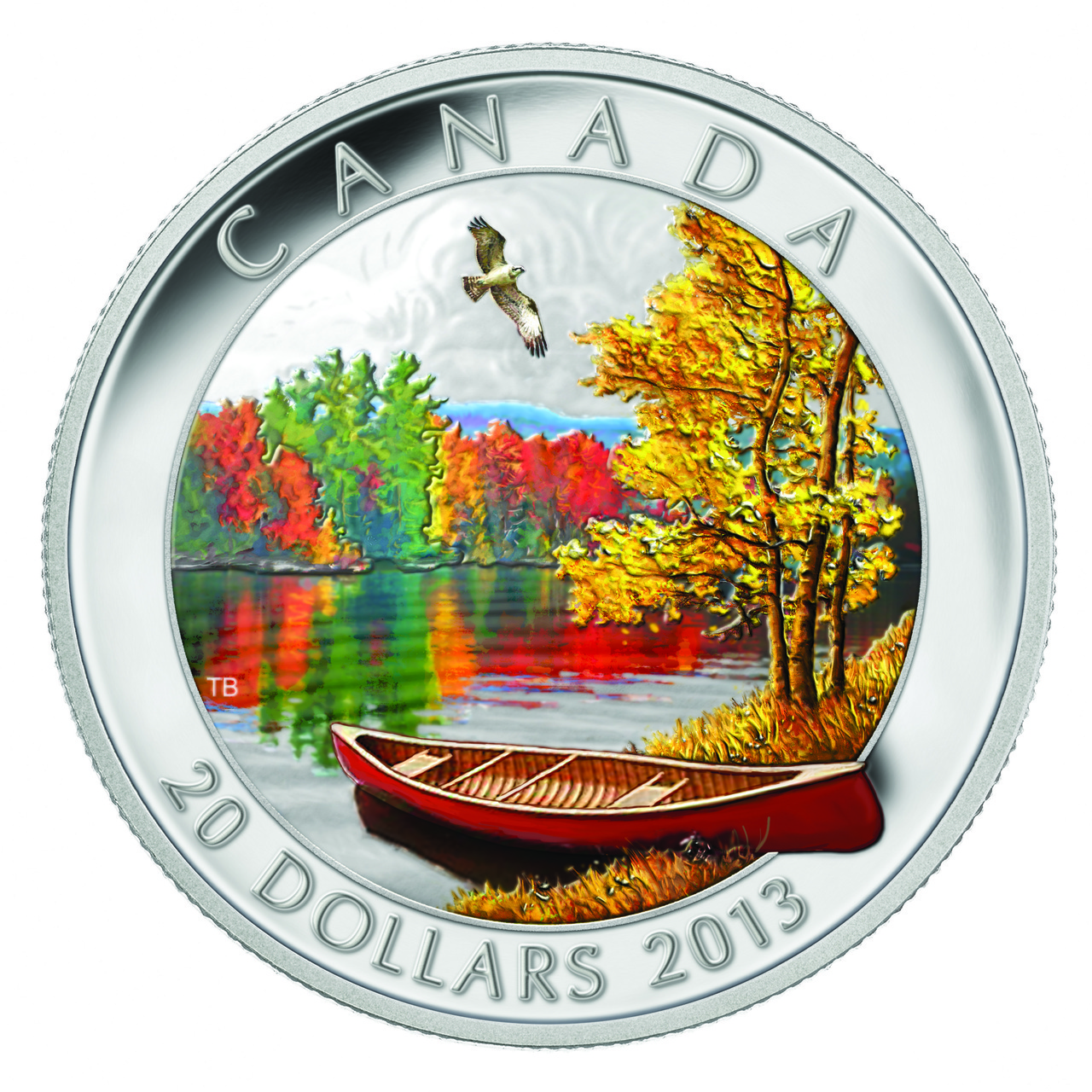 CANADA 2013 $20 Fine Silver Commemorative Coin - Autumn Bliss - Fine 1oz Silver Coin