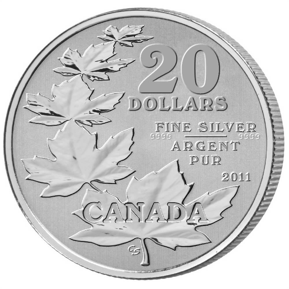 CANADA 2011 $20 Fine Silver Commemorative Coin - Maple Leaf - $20 for $20 - #1 In Series