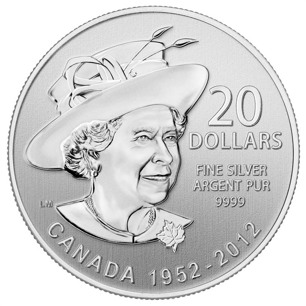 CANADA 2012 $20 Fine Silver Commemorative Coin - Queen Diamond Jubilee - $20 for $20 - #4 In Series