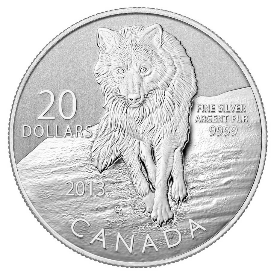 CANADA 2013 $20 Fine Silver Commemorative Coin - Wolf - $20 for $20 - #8 In Series