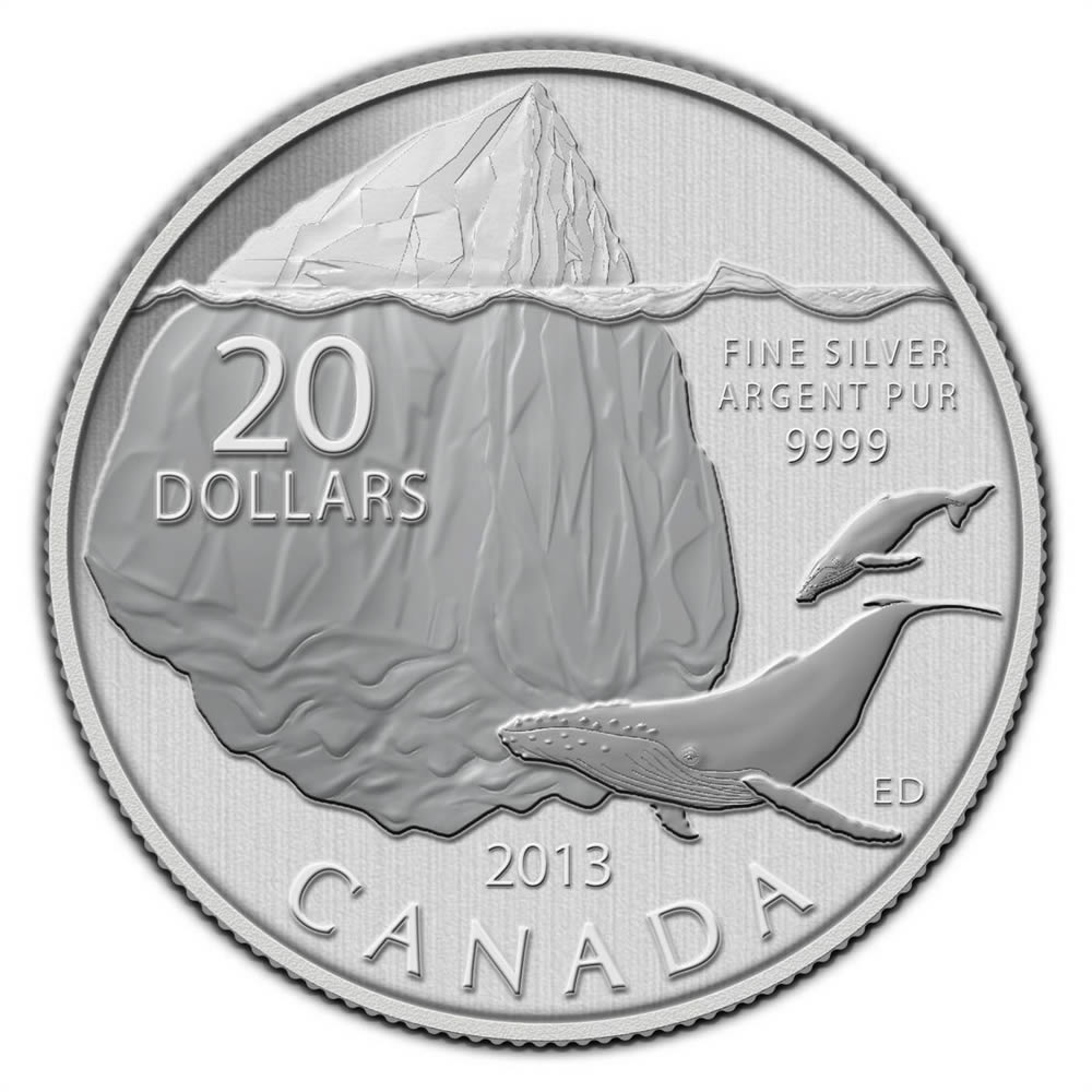 CANADA 2013 $20 Fine Silver Commemorative Coin - Wolf - $20 for $20 - #9 In Series