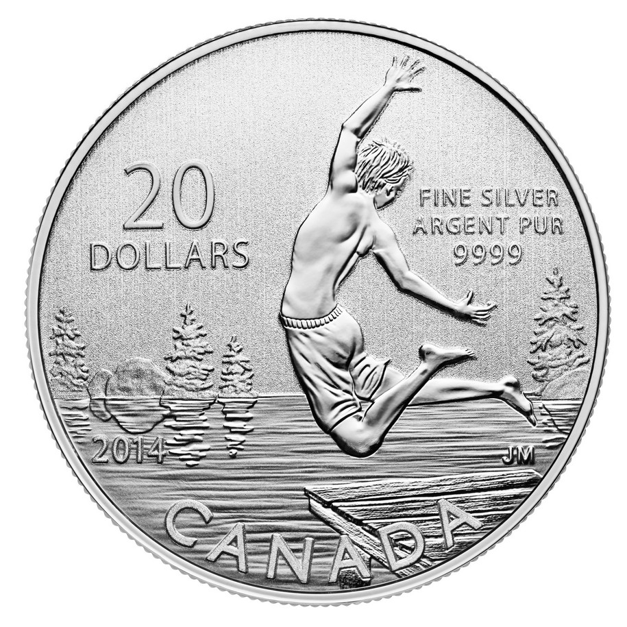 CANADA 2014 $20 Fine Silver Commemorative Coin - Summertime - $20 for $20 - #13 In Series