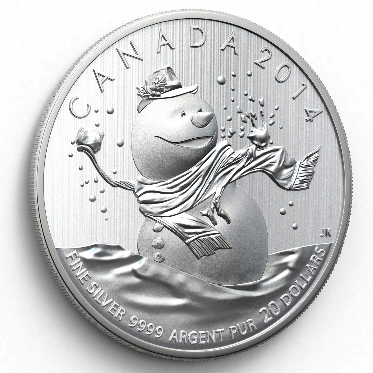 CANADA 2014 $20 Fine Silver Commemorative Coin - Snowman - $20 for $20 - #14 In Series