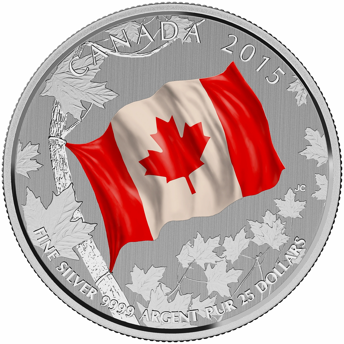 CANADA 2015 $20 Fine Silver Commemorative Coin - Canadian Flag 50th Anniversary - $25 for $25 - #15 In Series