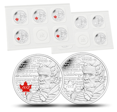 CANADA 25 cents 2013 de Salaberry Uncirculated Quarter 10-Pack