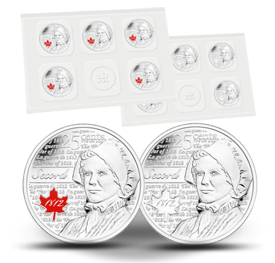 CANADA 25 cents 2013 Laura Secord Uncirculated Quarter 10-Pack